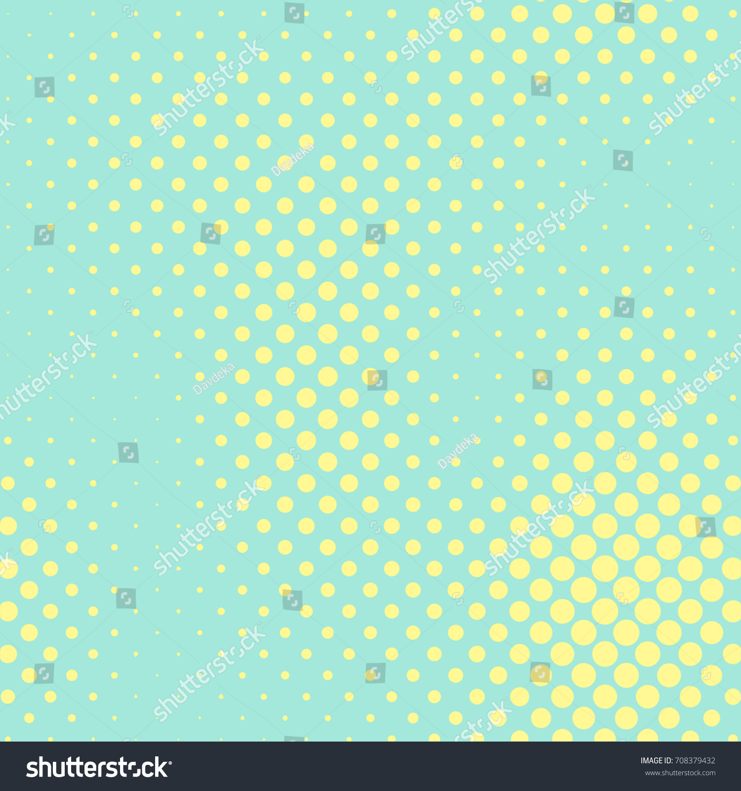 Pastel Mint Yellow Color Halftone Vector Stock Vector HD (Royalty ...
