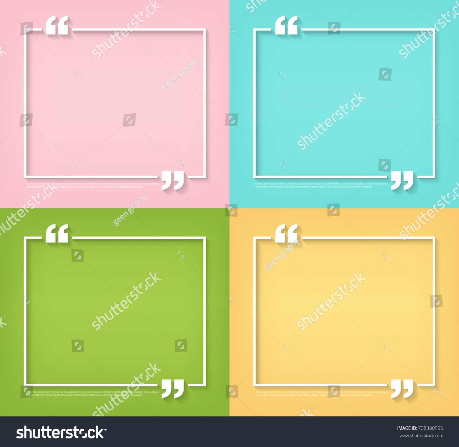 Text quote bubble symbol blank templates stock vector 708380596 text quote bubble symbol blank templates empty square quote bubble for business card paper buycottarizona Gallery