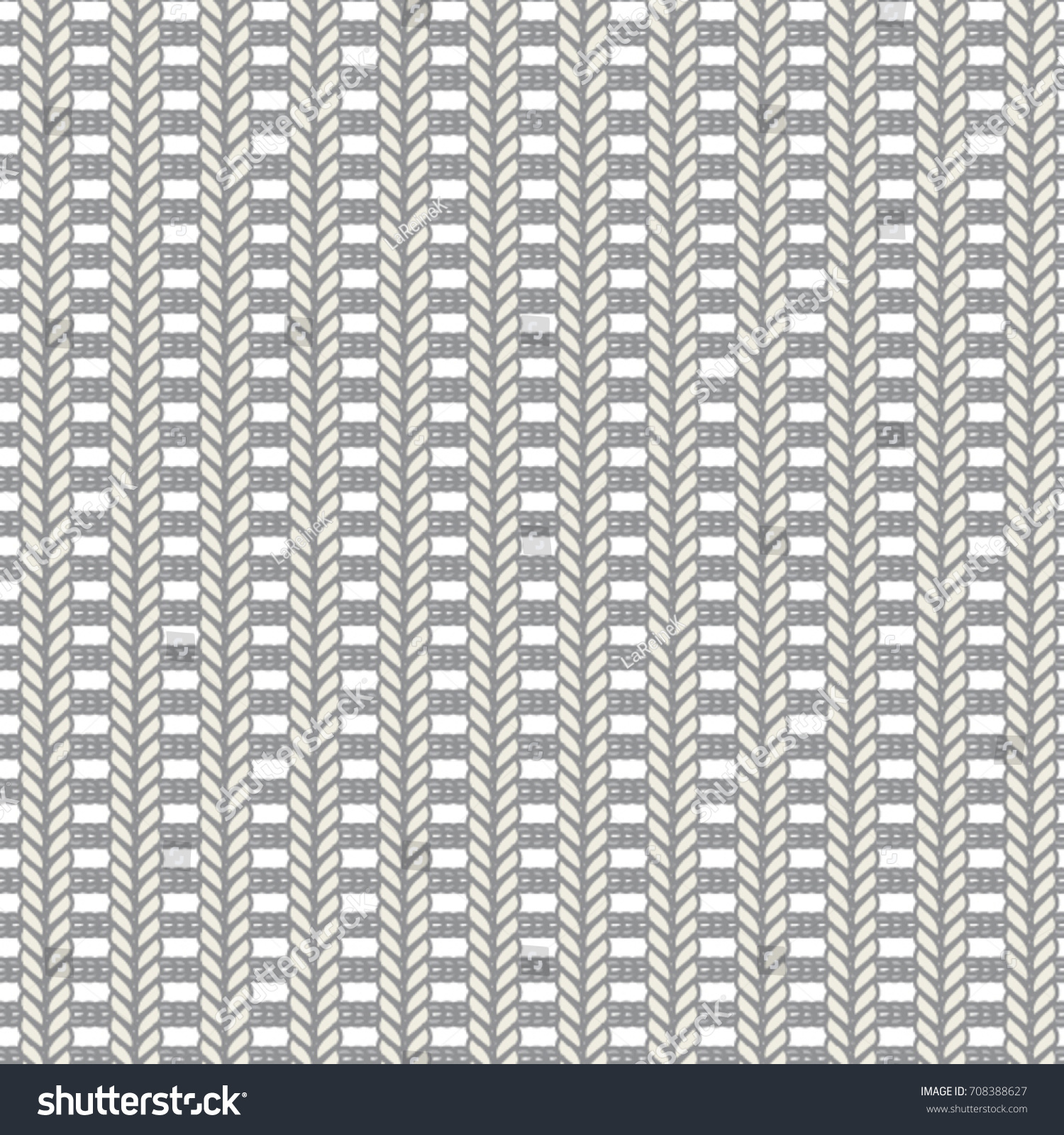 Ladder Knit Stitch Seamless Vector Pattern Stock Vector Royalty