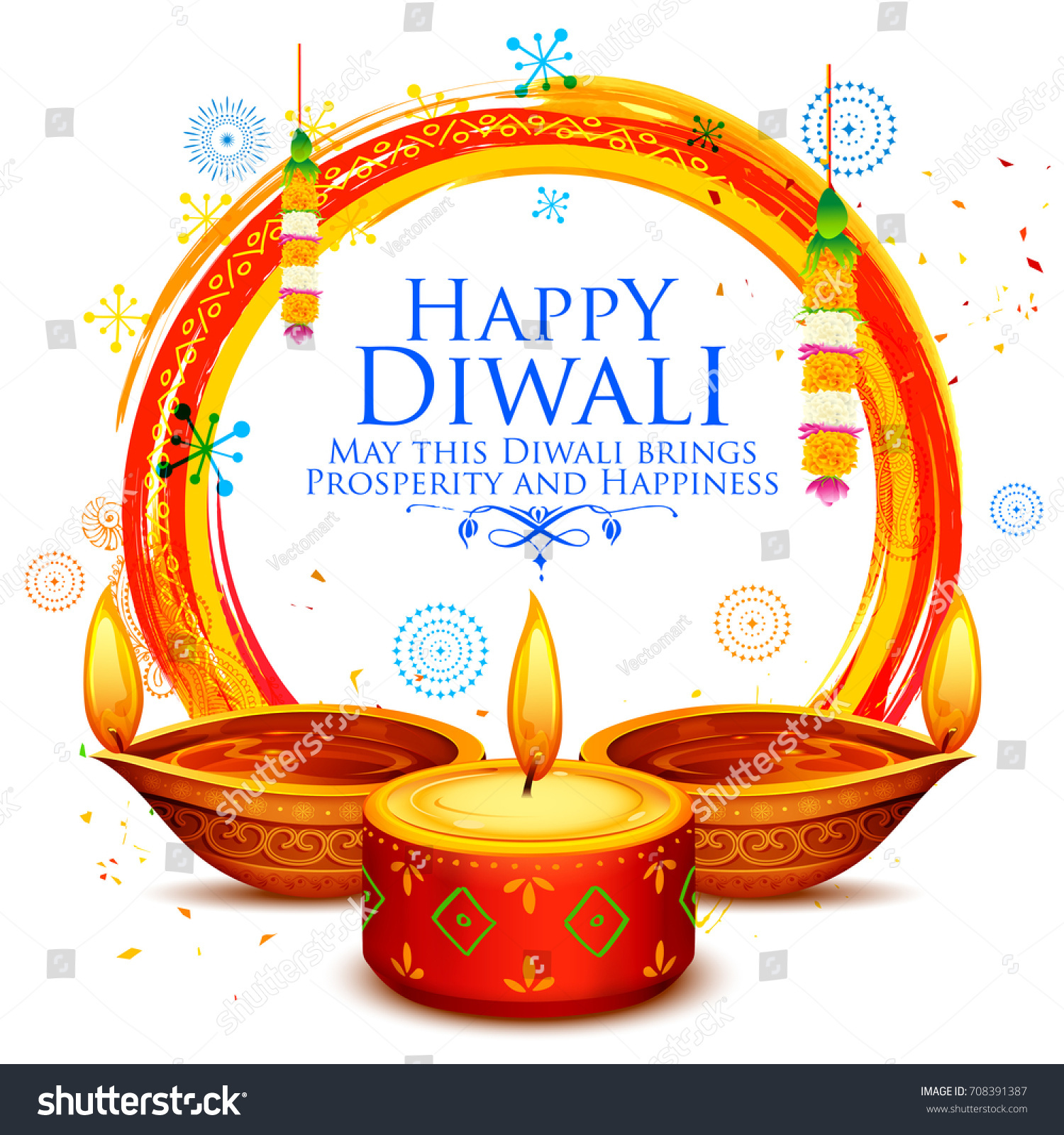 Oil Lamp Deepavali Clipart