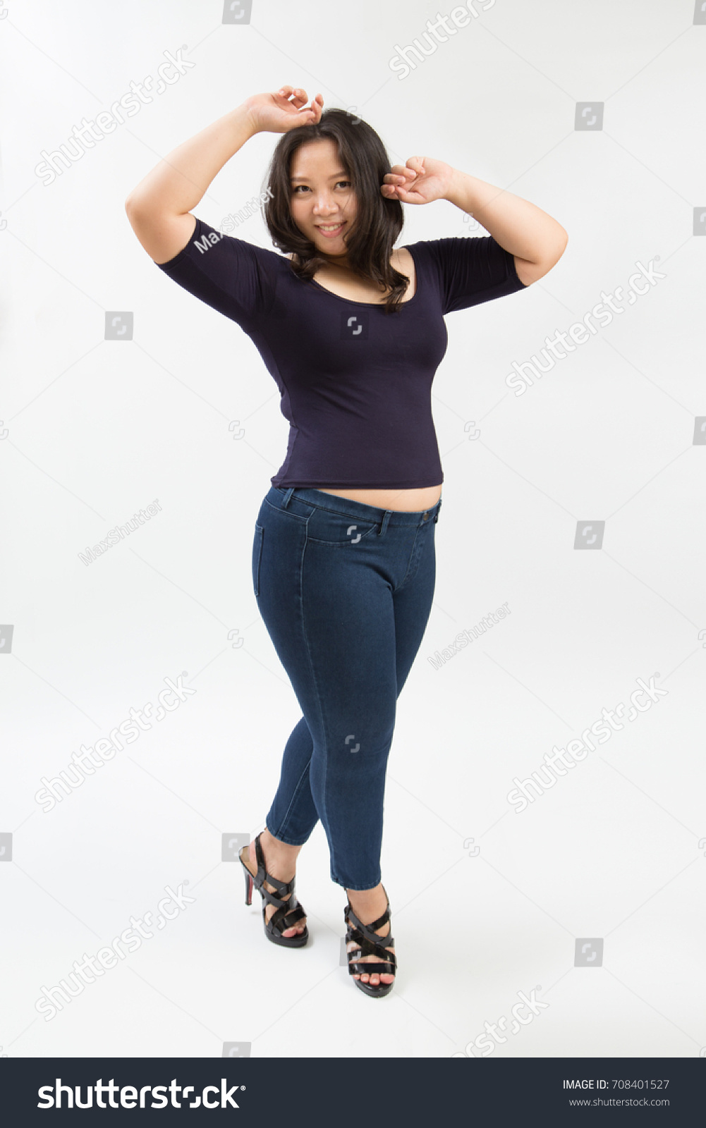 beautiful fat woman plus size model stock photo (royalty free
