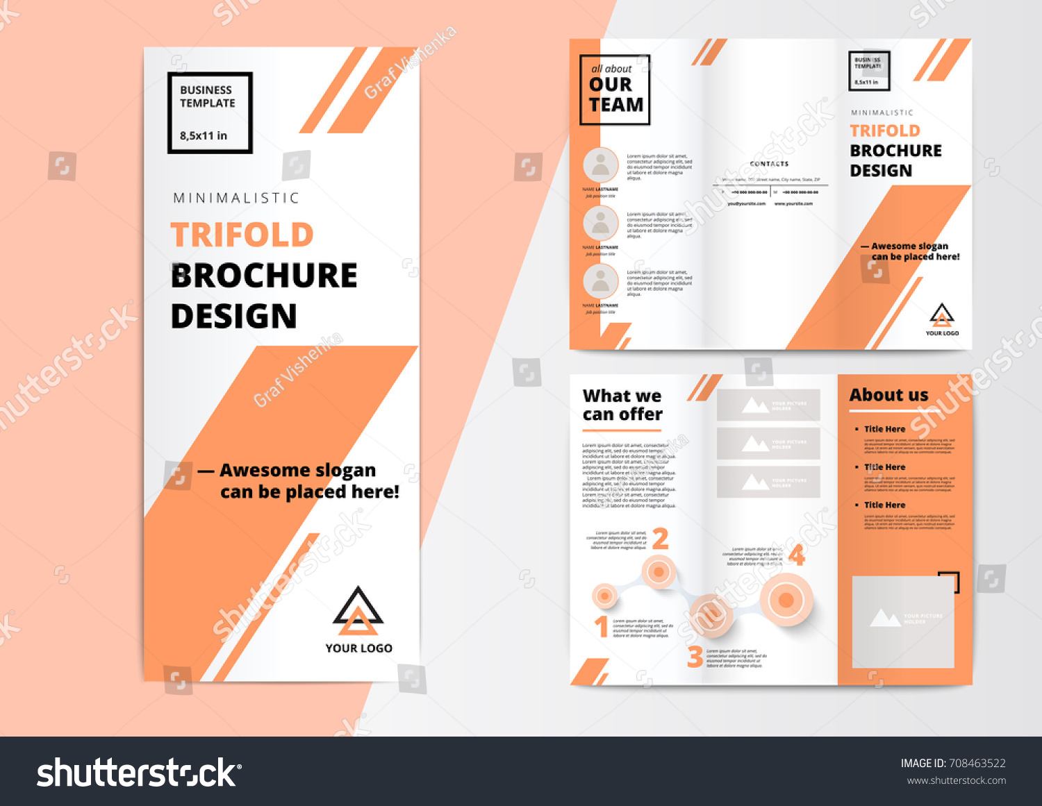 Corporate presentation trifold brochure design creative stock vector corporate presentation trifold brochure design creative business proposal or annual report vector flyer template flashek