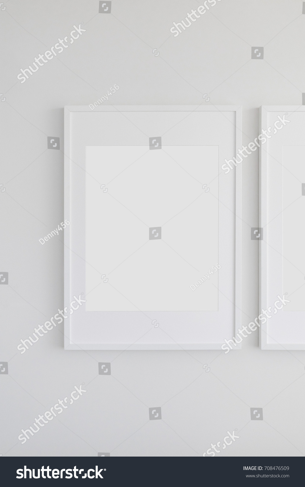 Large Vertical Picture Frame with Mat on a White Wall | EZ Canvas