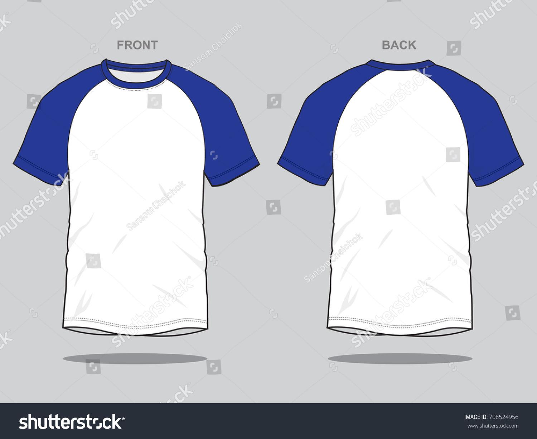 White Blue T Shirt Template Stock Vector 708524956 - Shutterstock