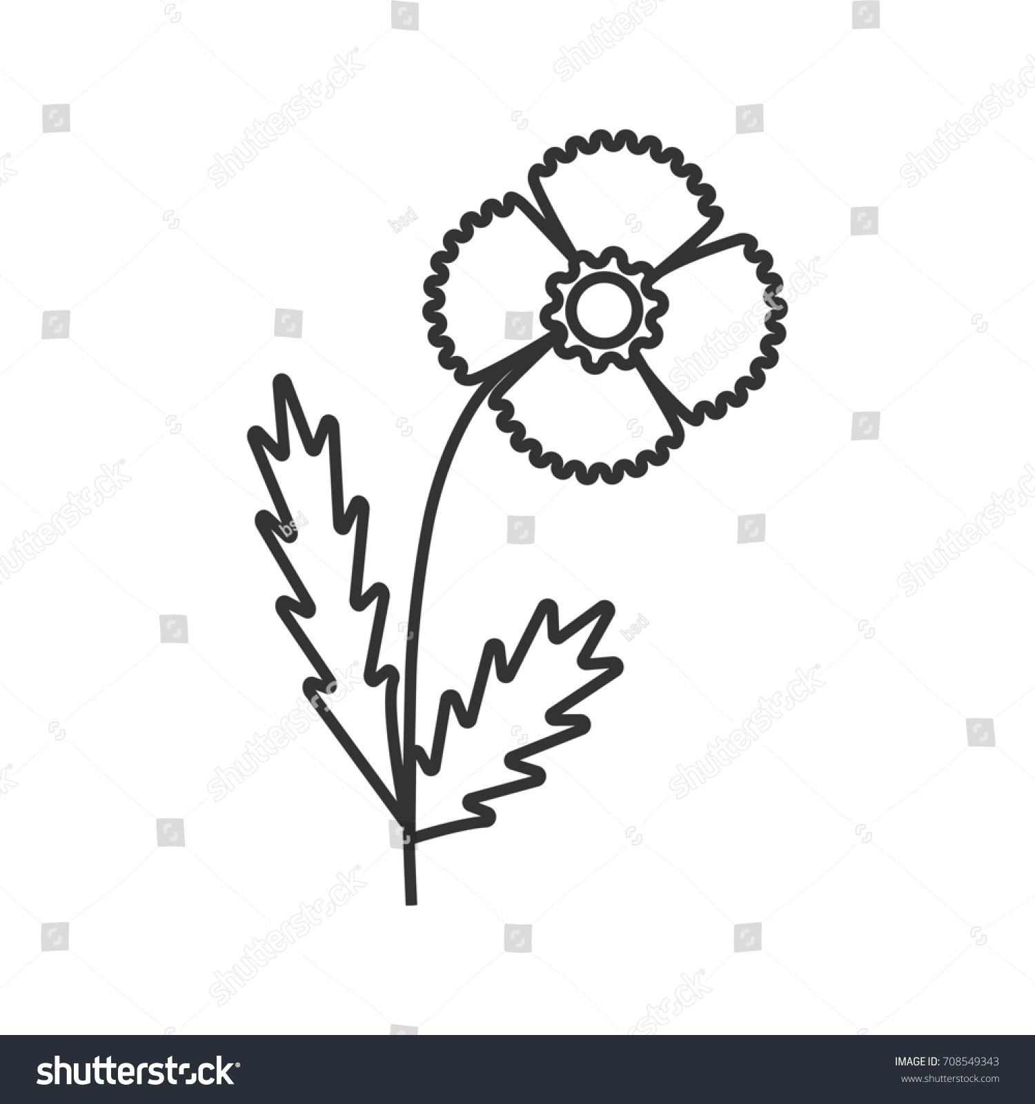Poppy flower linear icon blooming plant stock illustration poppy flower linear icon blooming plant thin line illustration wildflower contour symbol raster buycottarizona