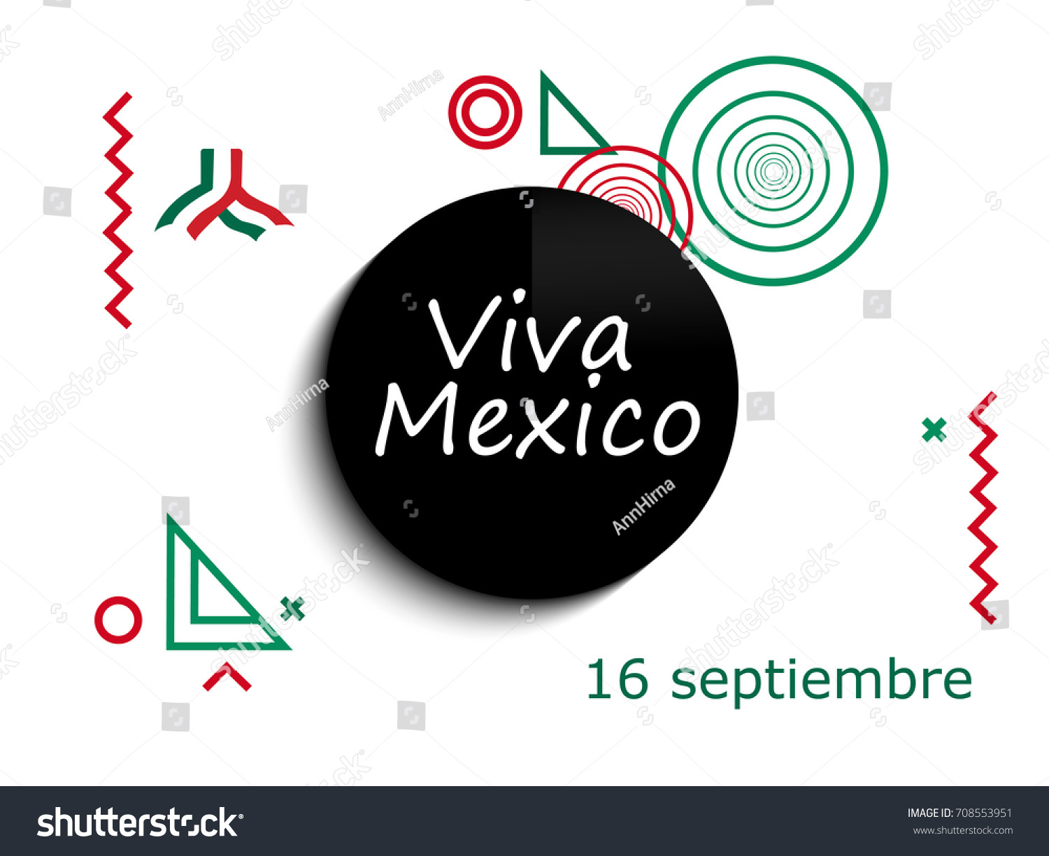 Mexico independence day greetings card viva stock vector 708553951 mexico independence day greetings card viva mexico traditional mexican phrase holiday modern design m4hsunfo Image collections