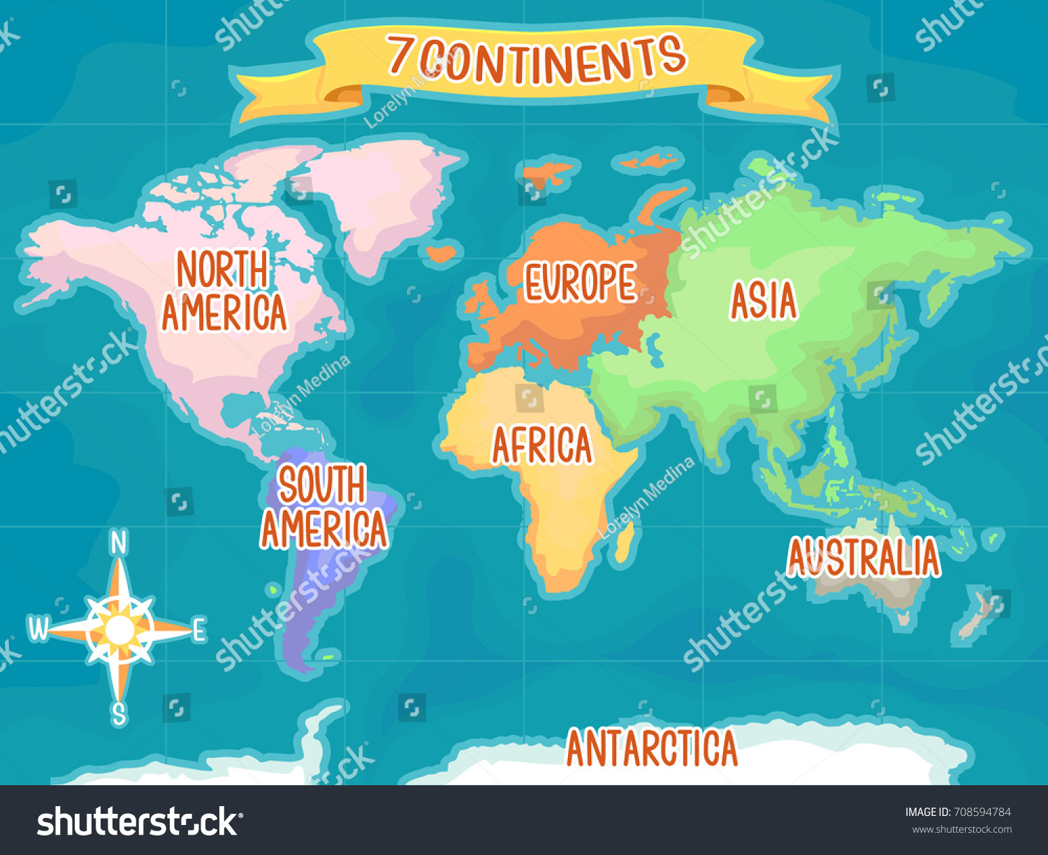colorful illustration featuring world map highlighting stock