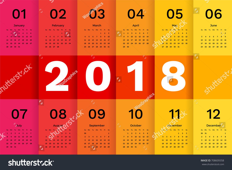 Minimalist Calendar Template : Calendar template simple minimal stock