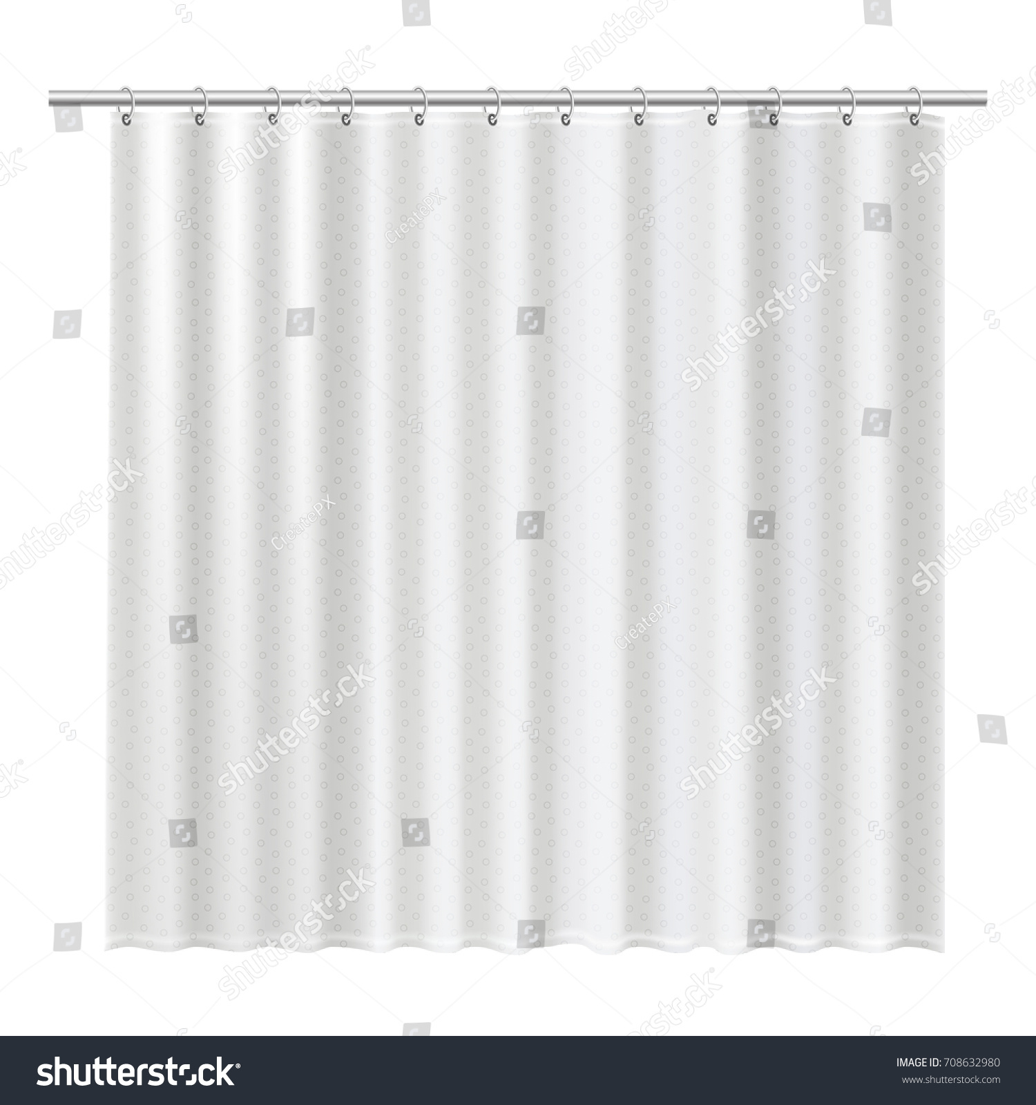 Blank Shower Curtains Mock Show Your Stock Vector 708632980 ...