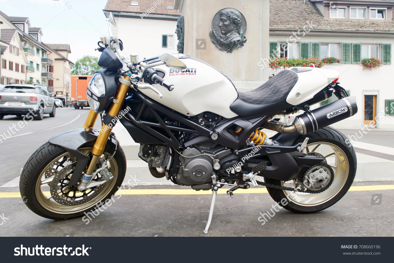 Aug 25 2017 Ducati Monster Motorcycle Stock Photo Edit Now