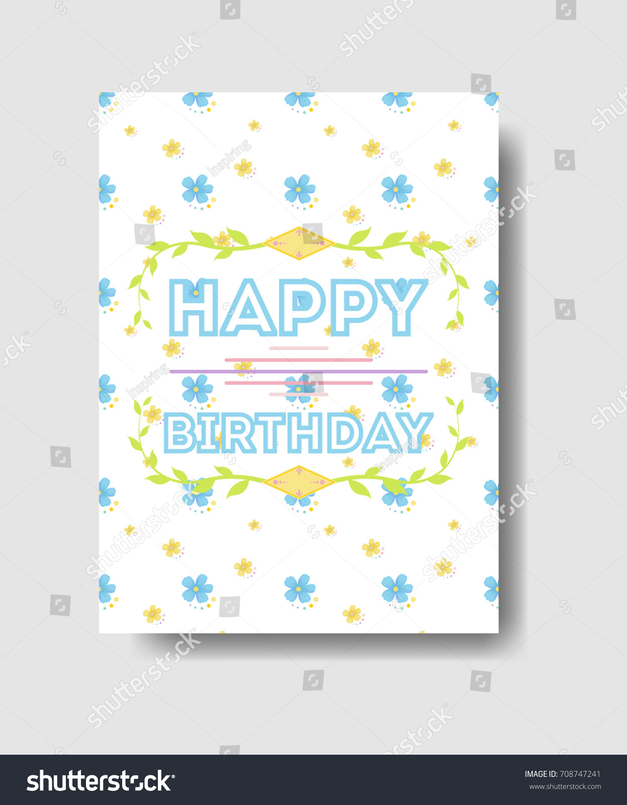 Isolated Birthday Card Greetings Cute Decorations Vector – Birthday Card Greetings