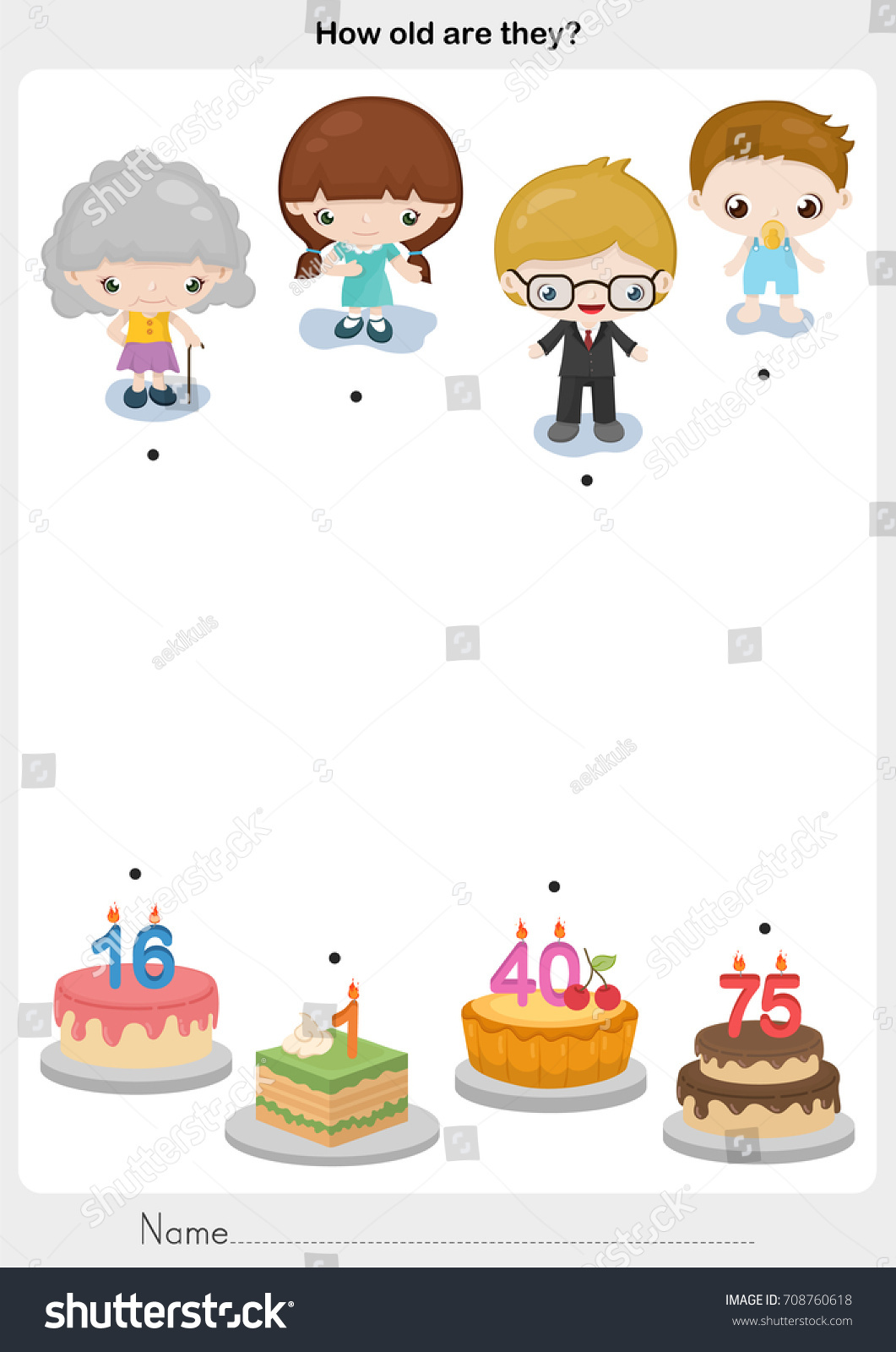 worksheet Cake Decorating Worksheets matching people birthday cake worksheet education stock vector 2018 and for education