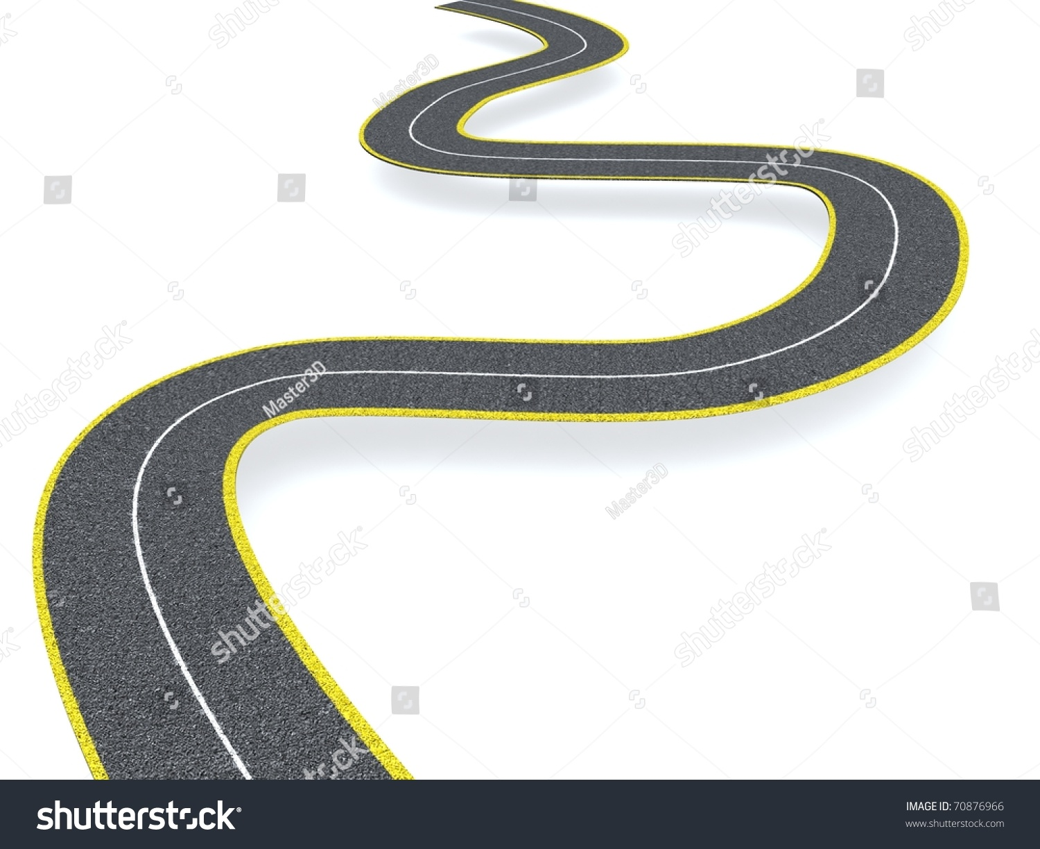 Winding Road Stock Photo 70876966 : Shutterstock