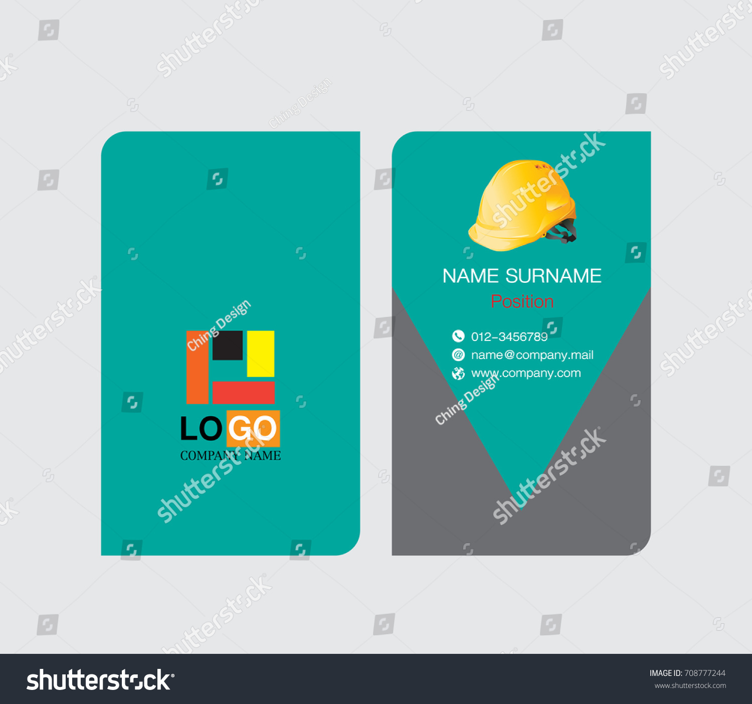 Business card template engineer name card stock vector 708777244 business card template engineer name card reheart Images