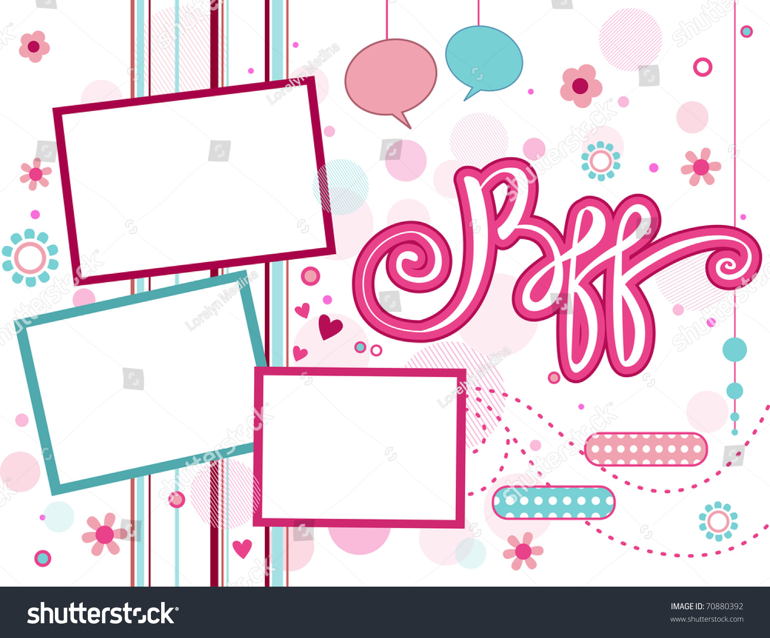 Illustration Frame Featuring Acronym BFF Stock Vector (2018 ...