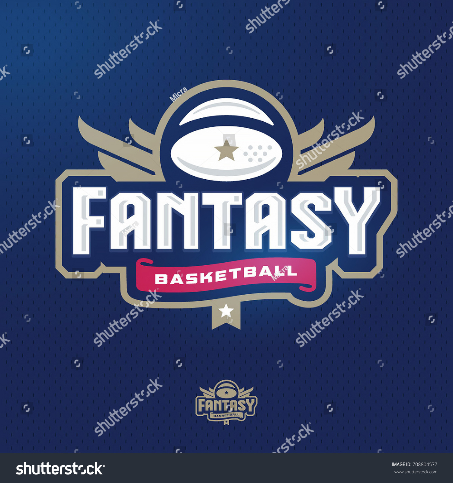 modern professional fantasy basketball sports template のベクター