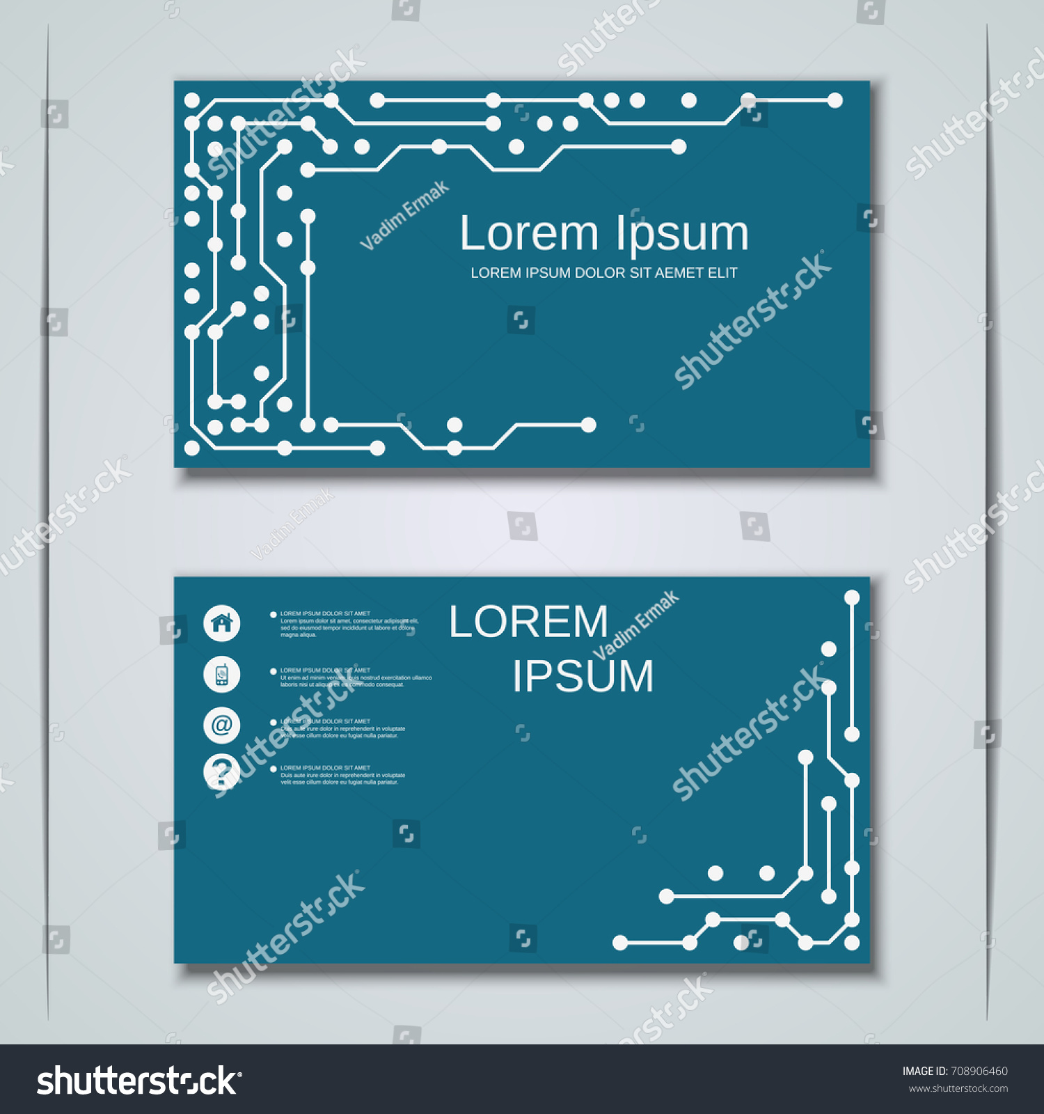 Digital circuit style business visiting card stock vector 708906460 digital circuit style business visiting card vector templates collection colourmoves