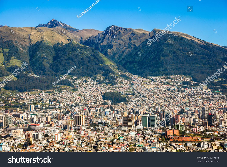 Panorama Quito Capital Ecuador Stock Photo Shutterstock - Capital of ecuador