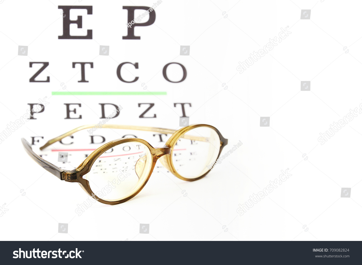 Reading Glasses Fitting Farsighted Lens On Stock Photo Edit Now