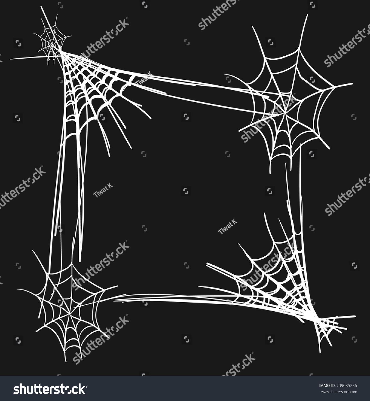 halloween border spider web design vector stock vector royalty free