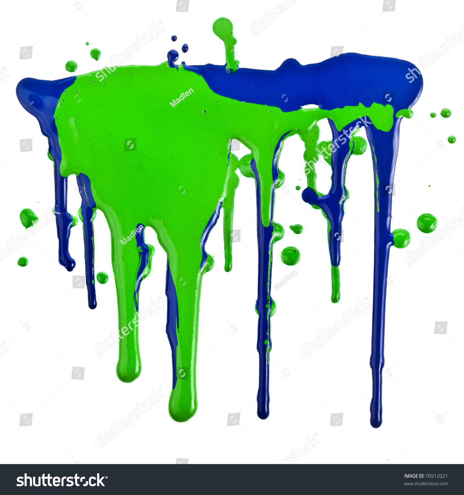 Colorful Paint Dripping Isolated On White Stock Photo ...