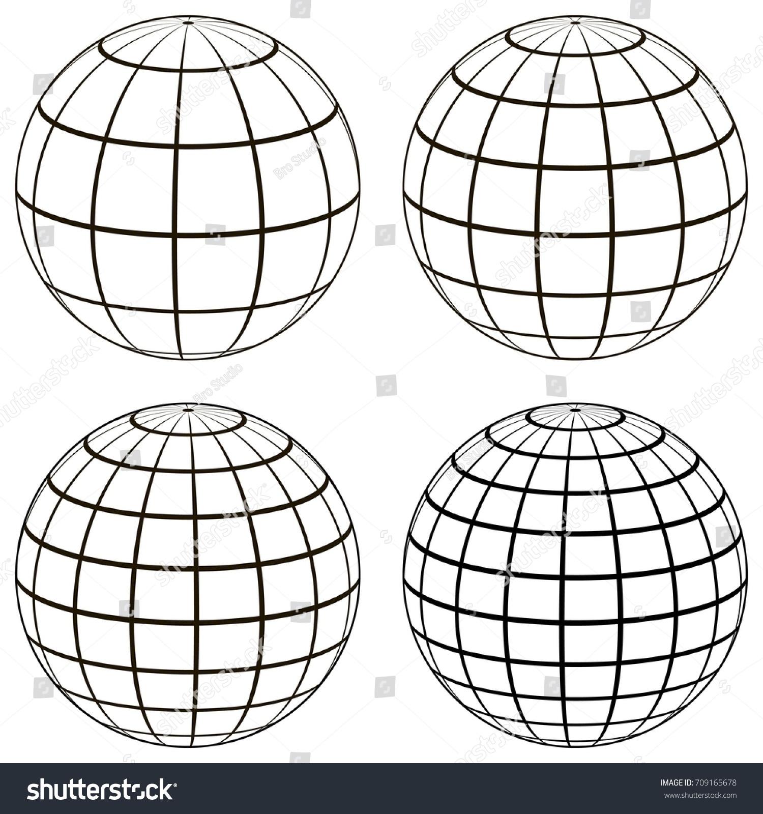 Set 3 D Ball Globe Model Earth Stock-Vektorgrafik (Lizenzfrei ...