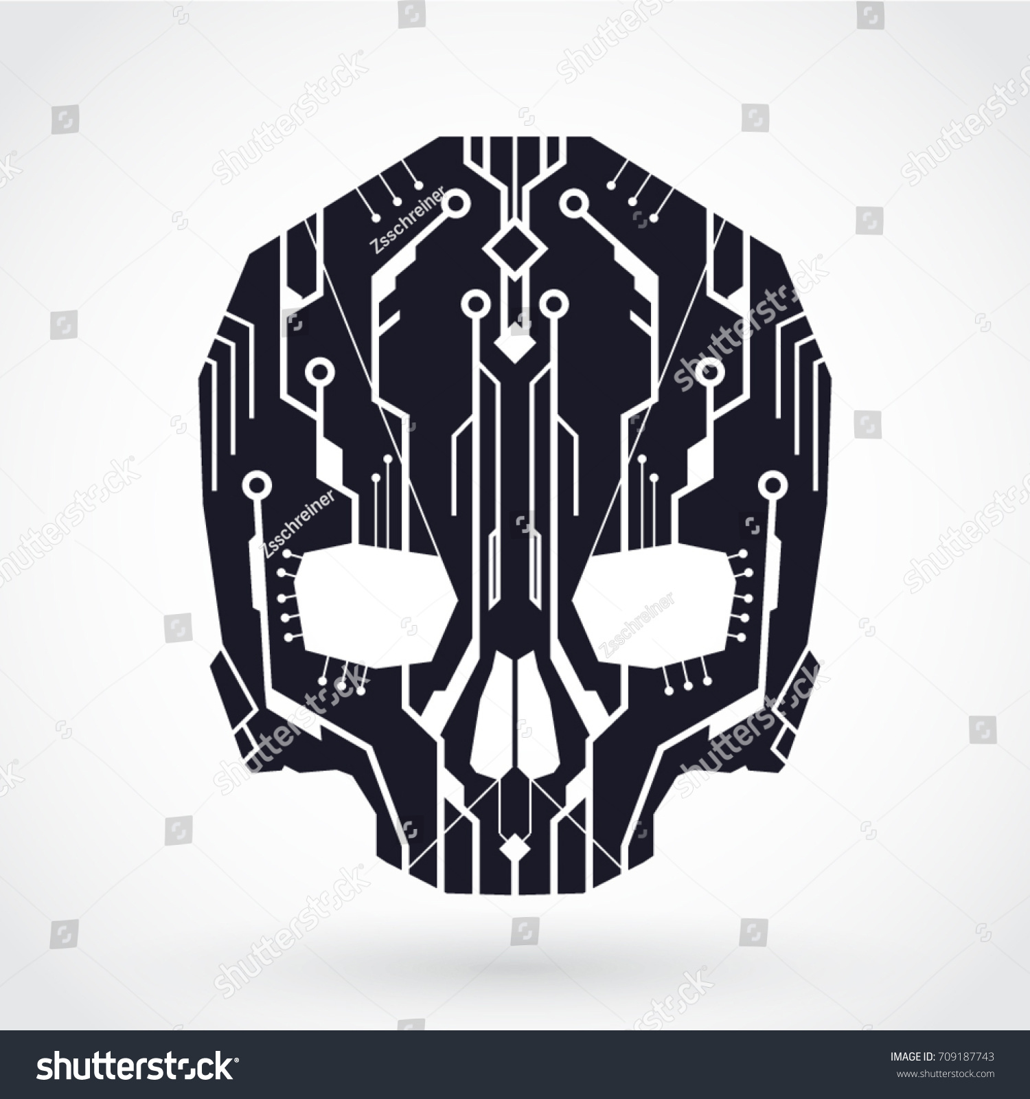 Circuit Board Skull Not Lossing Wiring Diagram Detail Of A Printed Royalty Free Stock Image Cyber Symbol Vector Rh Shutterstock Com Homemade