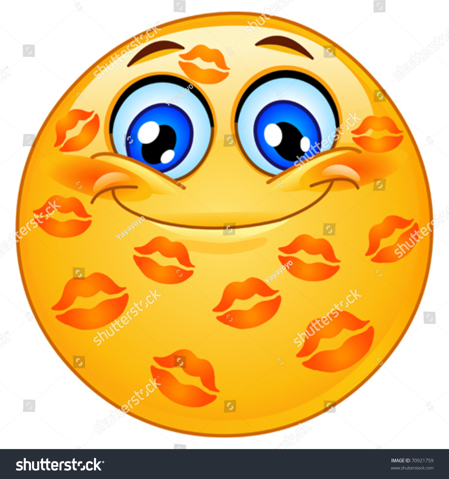 emoticon many kisses stock vector (royalty free) 70921759 - shutterstock