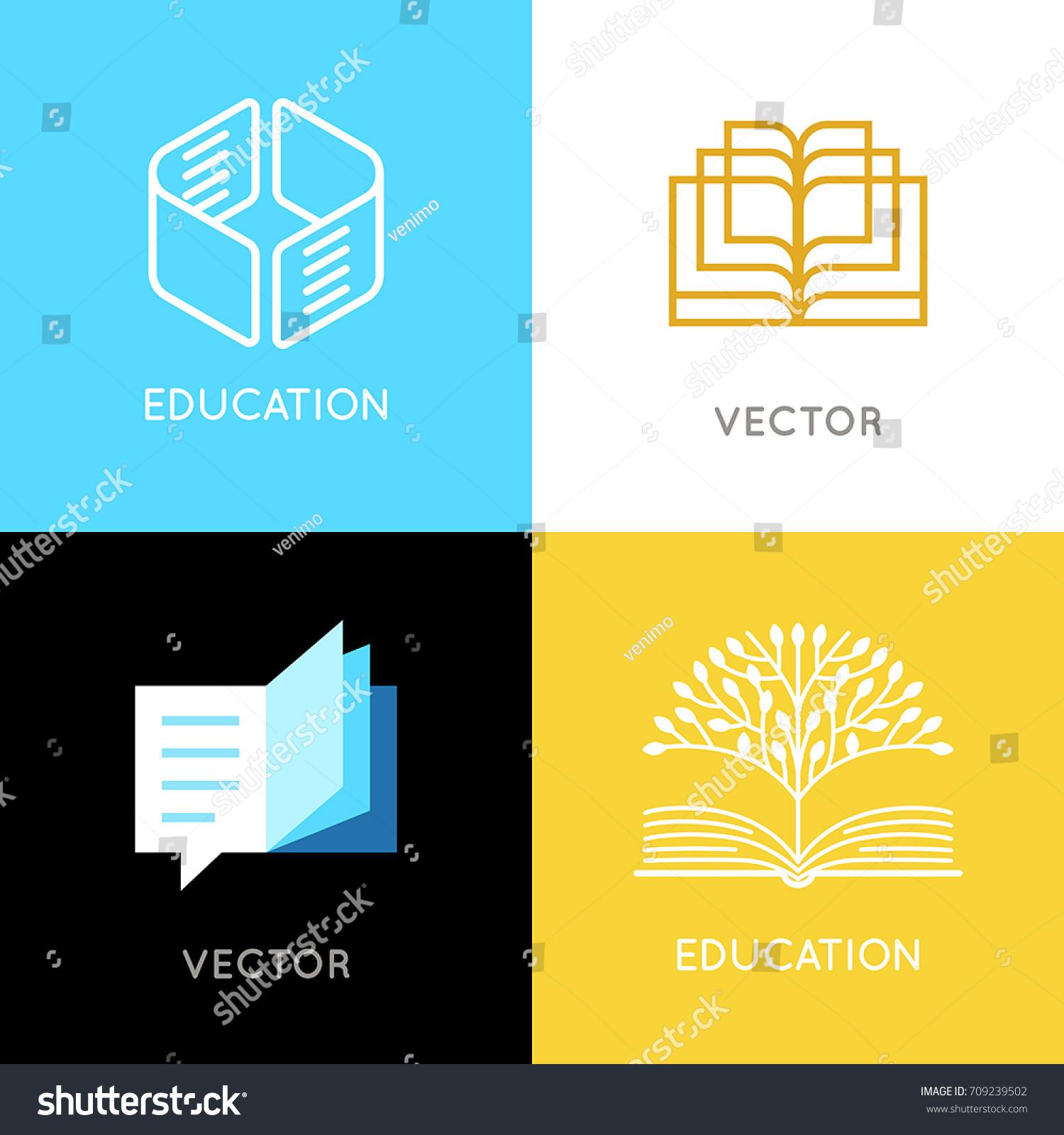 Vector Set Abstract Logo Design Templates Stock Photo (Photo, Vector ...