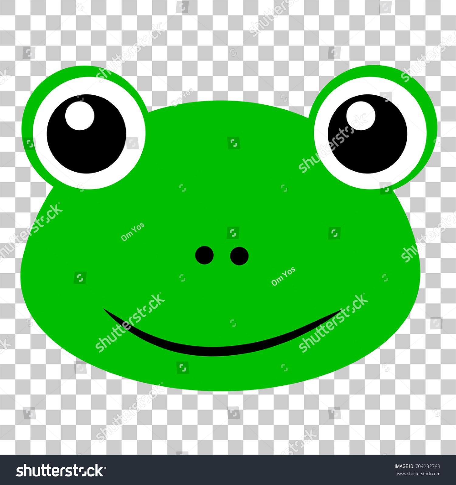 funny frog face transparent effect background stock vector 709282783 rh shutterstock com
