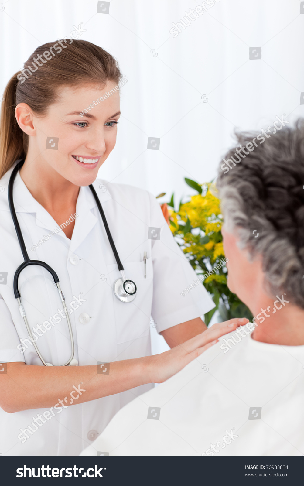 Nurse Taking Care Her Patient Stock Photo 70933834 ...