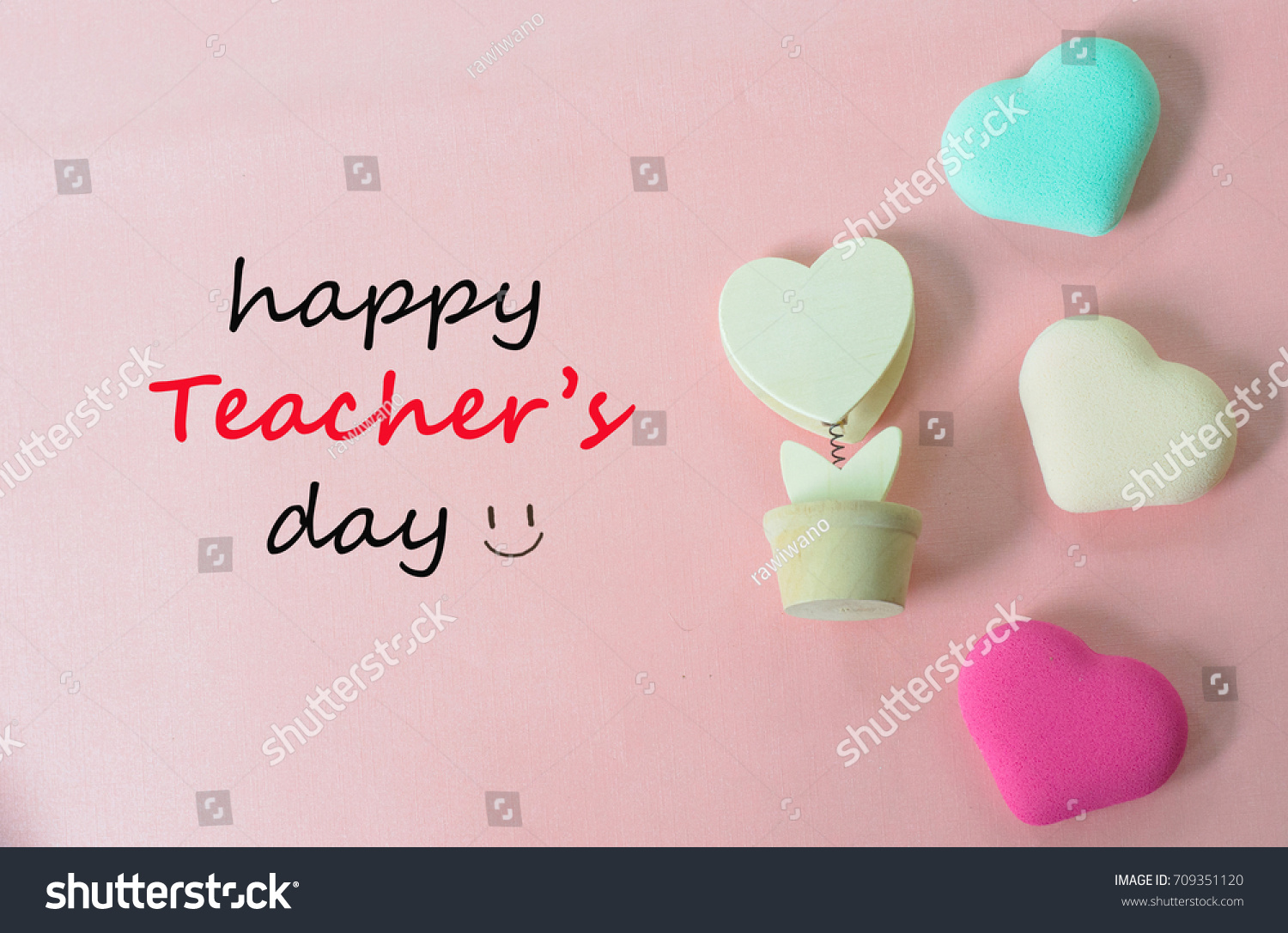 Teachers Day Concept Greeting Words Handwriting Stock Photo Edit