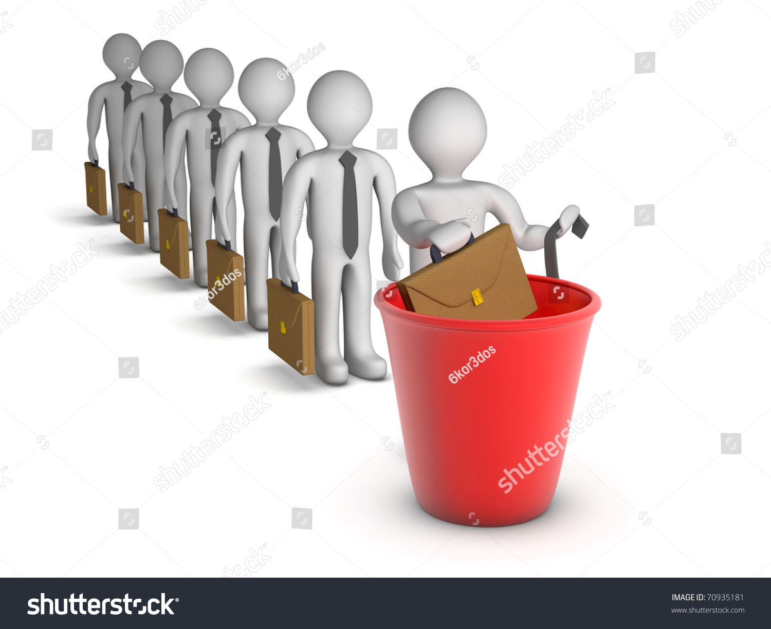 d people getting fired stock illustration shutterstock 3d people getting fired