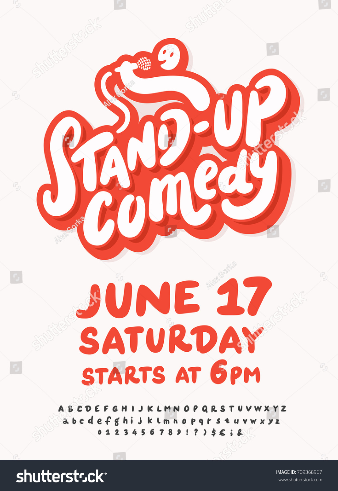 Stand Comedy Poster Template Stock Vector Royalty Free 709368967