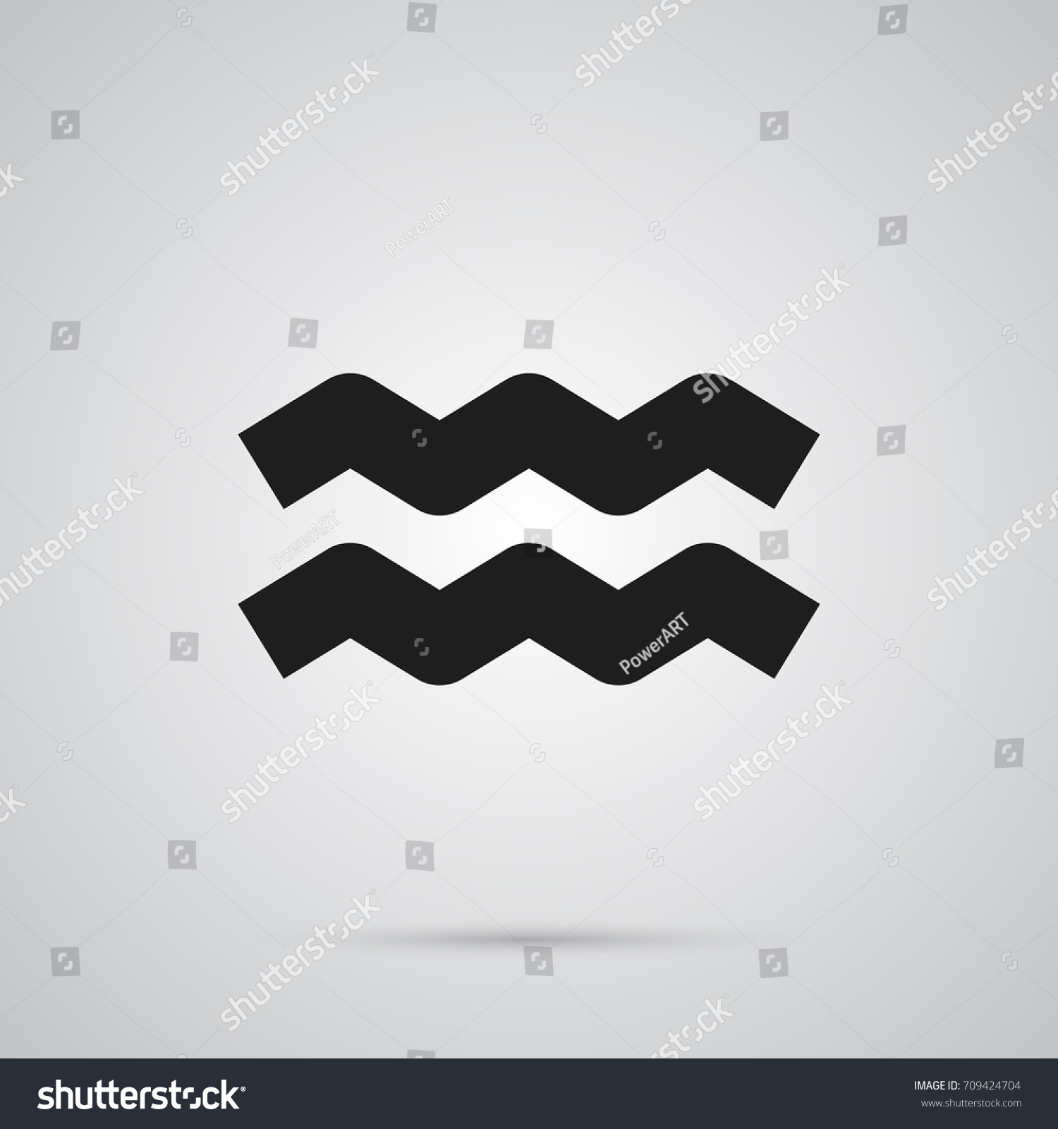 Isolated aquarius icon symbol on clean stock vector 709424704 isolated aquarius icon symbol on clean background vector water bearer element in trendy style biocorpaavc Choice Image