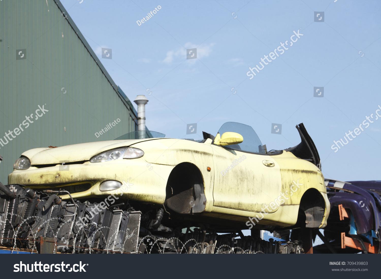 Scrap Metal Car On Scrap Yard Stock Photo 709439803 - Shutterstock