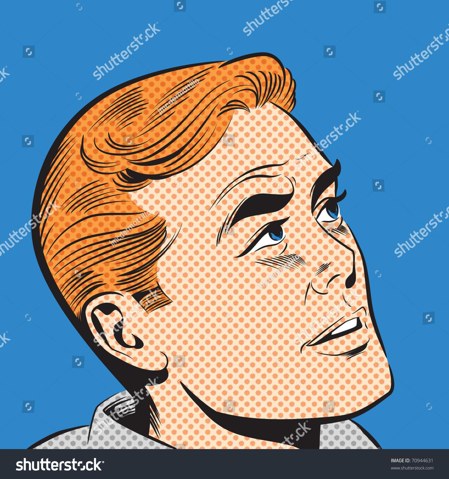 Art Illustration: Pop Art Illustration Of A Man