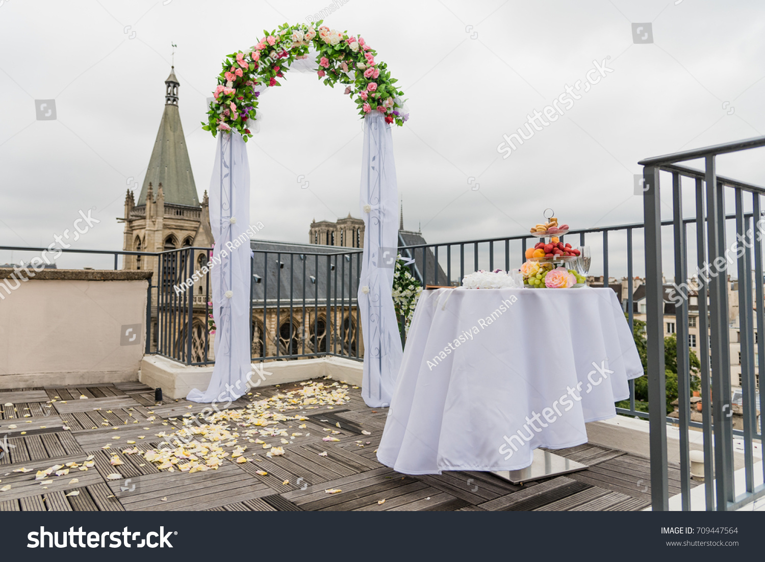 Details Wedding Ceremony On Rooftop Paris Stock Photo (Royalty Free ...
