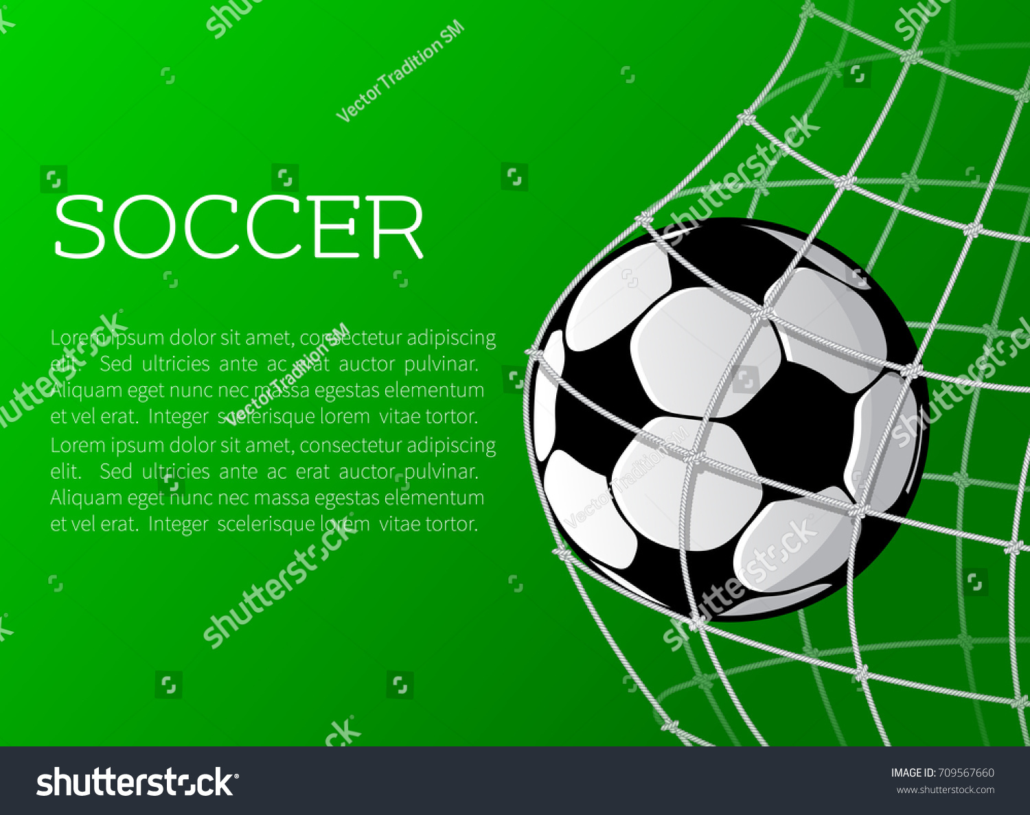 Soccer match football sport championship poster stock vector soccer match or football sport championship poster template vector football or soccer ball in goal pronofoot35fo Gallery