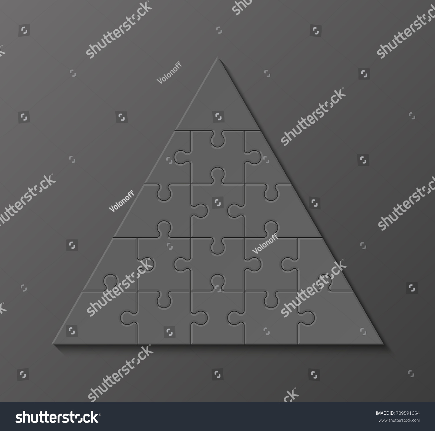 Five Levels Pyramid Puzzle Presentation Infographic Stock Vector ...