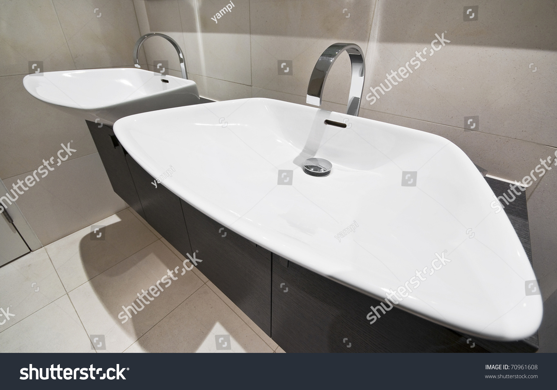 designer bathroom detail with double hand wash basin | EZ Canvas
