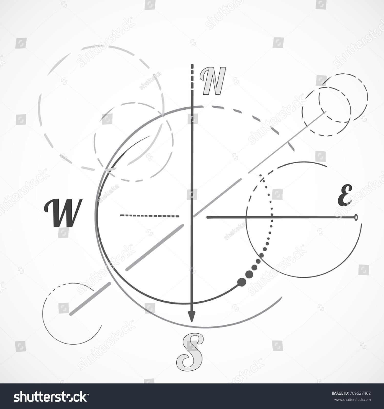 Geometry scheme sacred compass round symbol stock vector 709627462 geometry scheme sacred compass round symbol triangle shape minimal style biocorpaavc