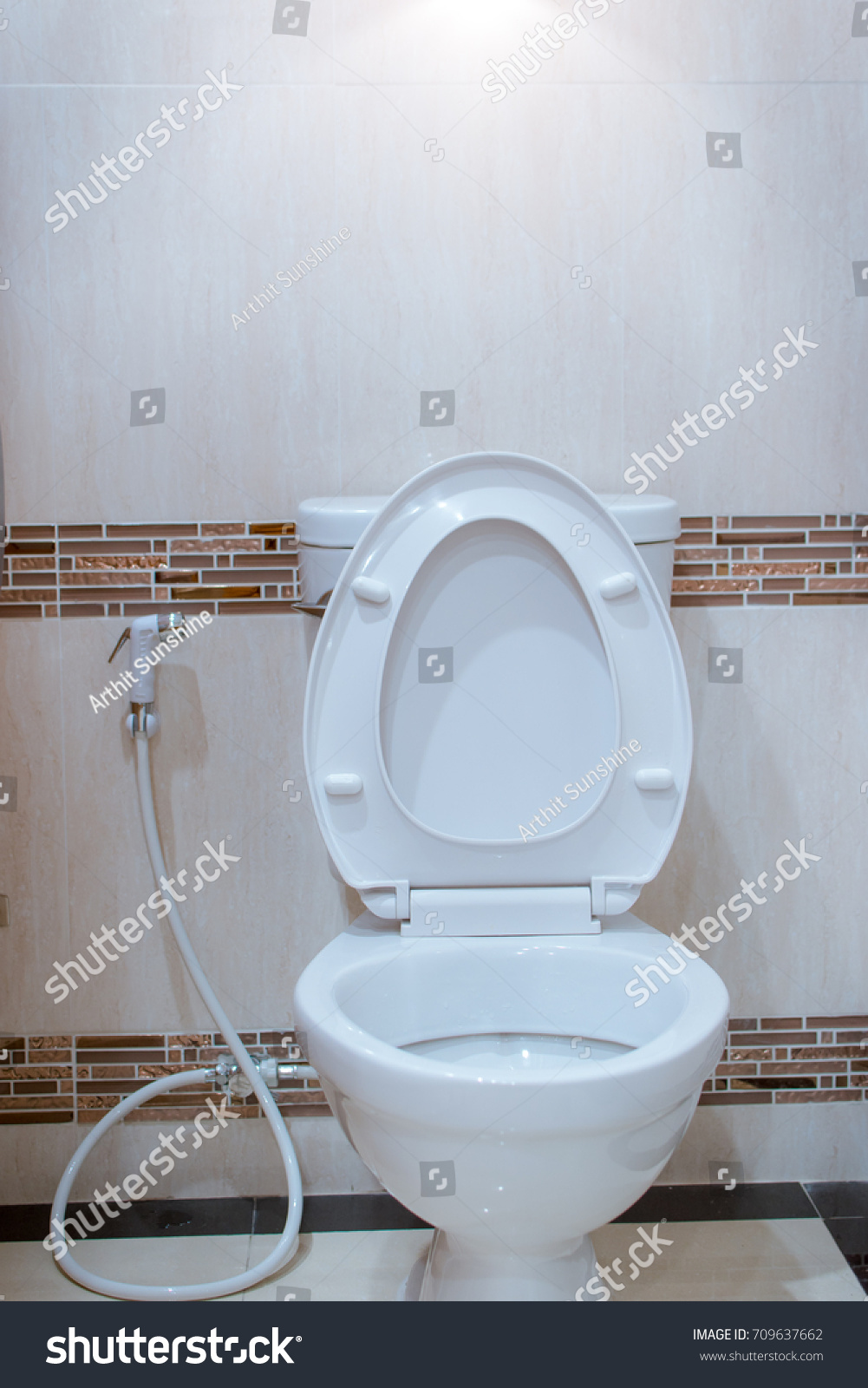 White Toilet Bowl Office Bath Bathroom Stock Photo (Edit Now ...