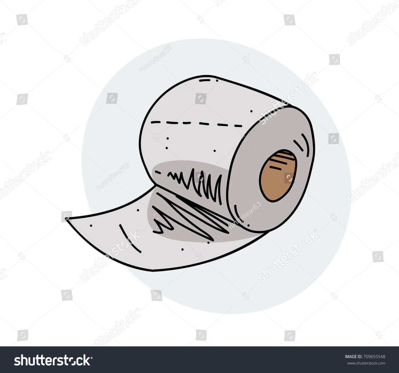 toilet drawing. Toilet paper roll cartoon hand drawn image  Original colorful artwork comic childish style drawing Paper Roll Cartoon Hand Drawn Stock Vector 709655548