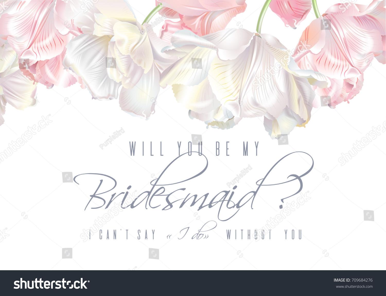 Vector Wedding Invitation White Pink Tulip Stock Vector (2018 ...