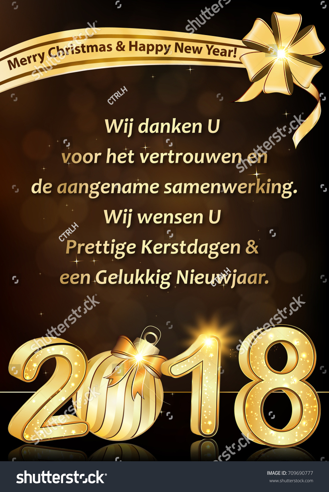 Thank you dutch business new year stock illustration 709690777 thank you dutch business new year greeting card we wish to thank you for your kristyandbryce Gallery
