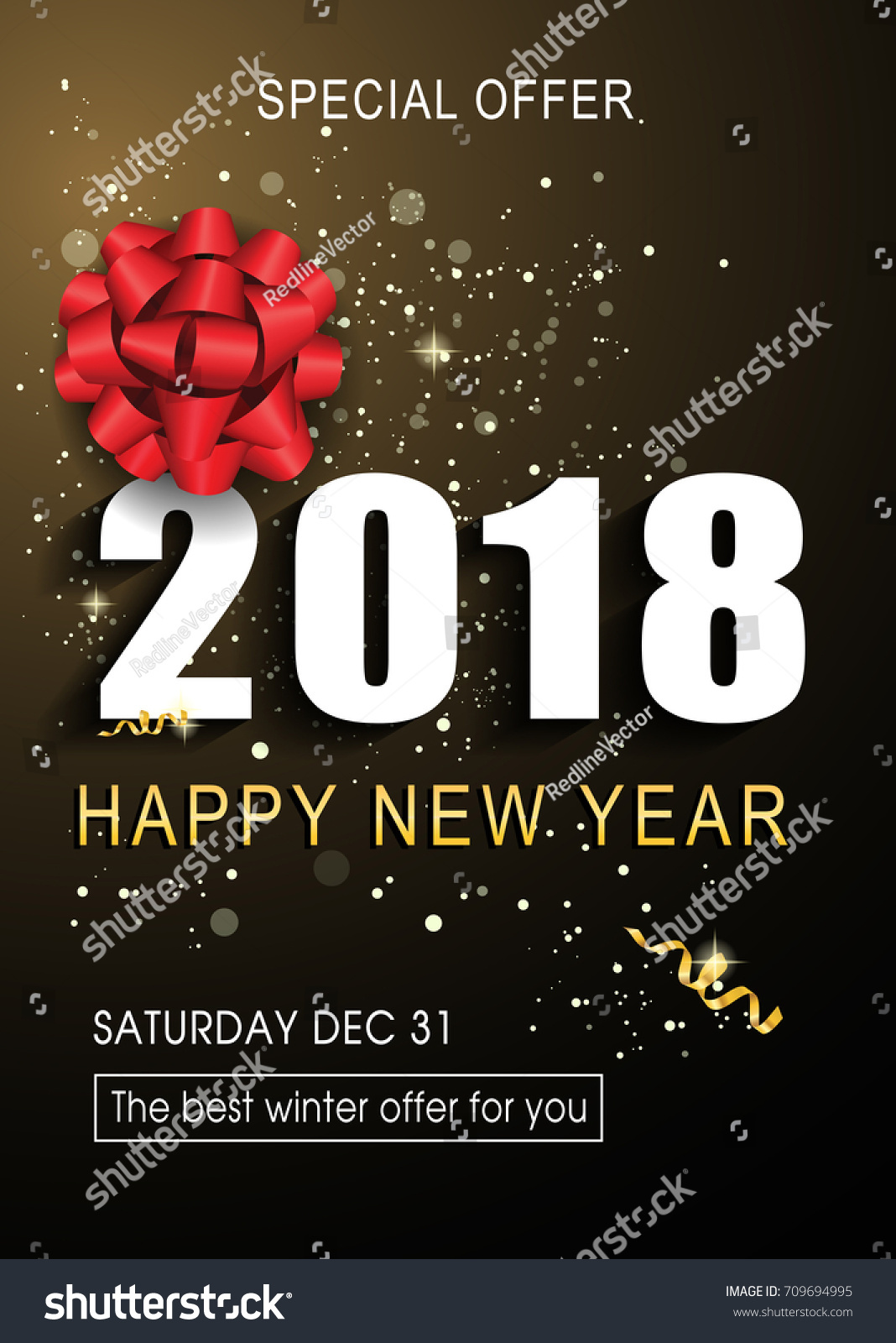 Happy New Year Special Offer Lettering Stock Vector (Royalty Free ...