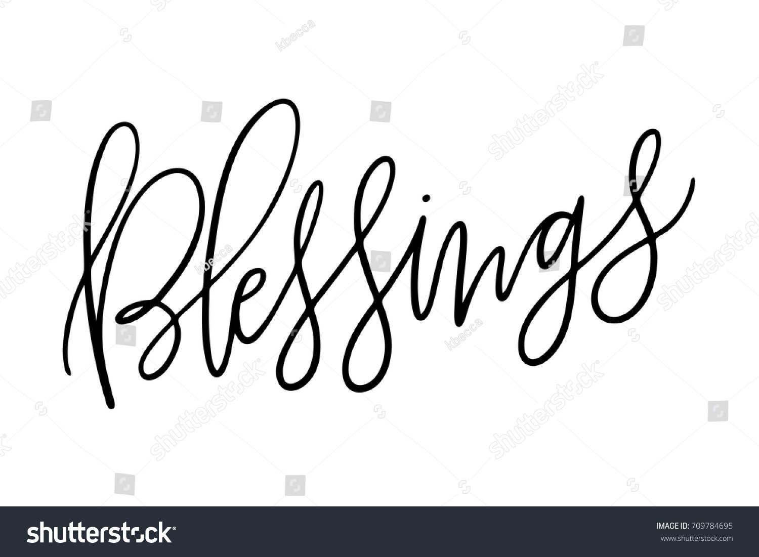 Quirky Vector Isolated Hand Lettered Religious Stock Vector (Royalty ...