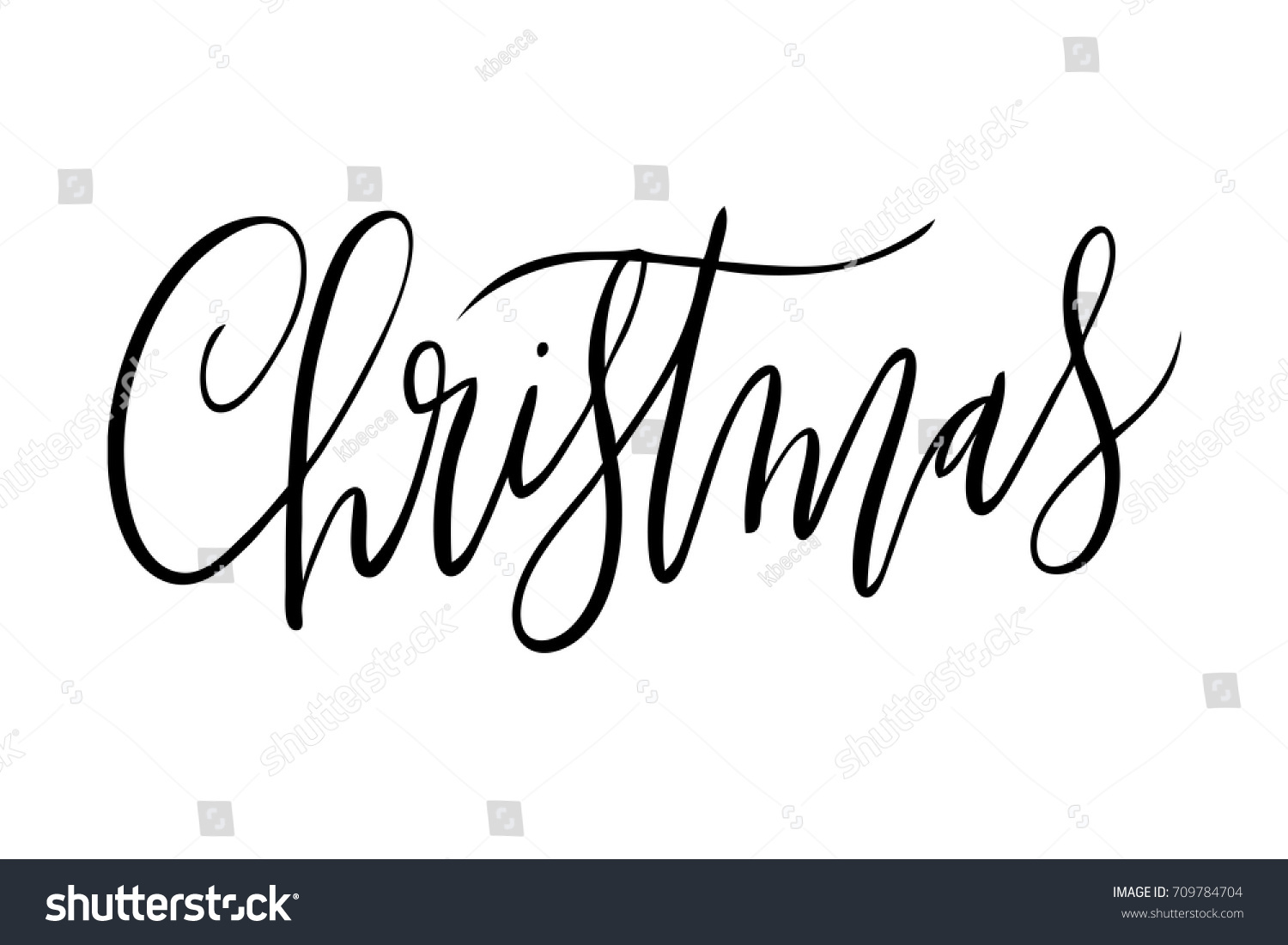 Quirky Isolated Vector Hand Written Christmas Stock Vector