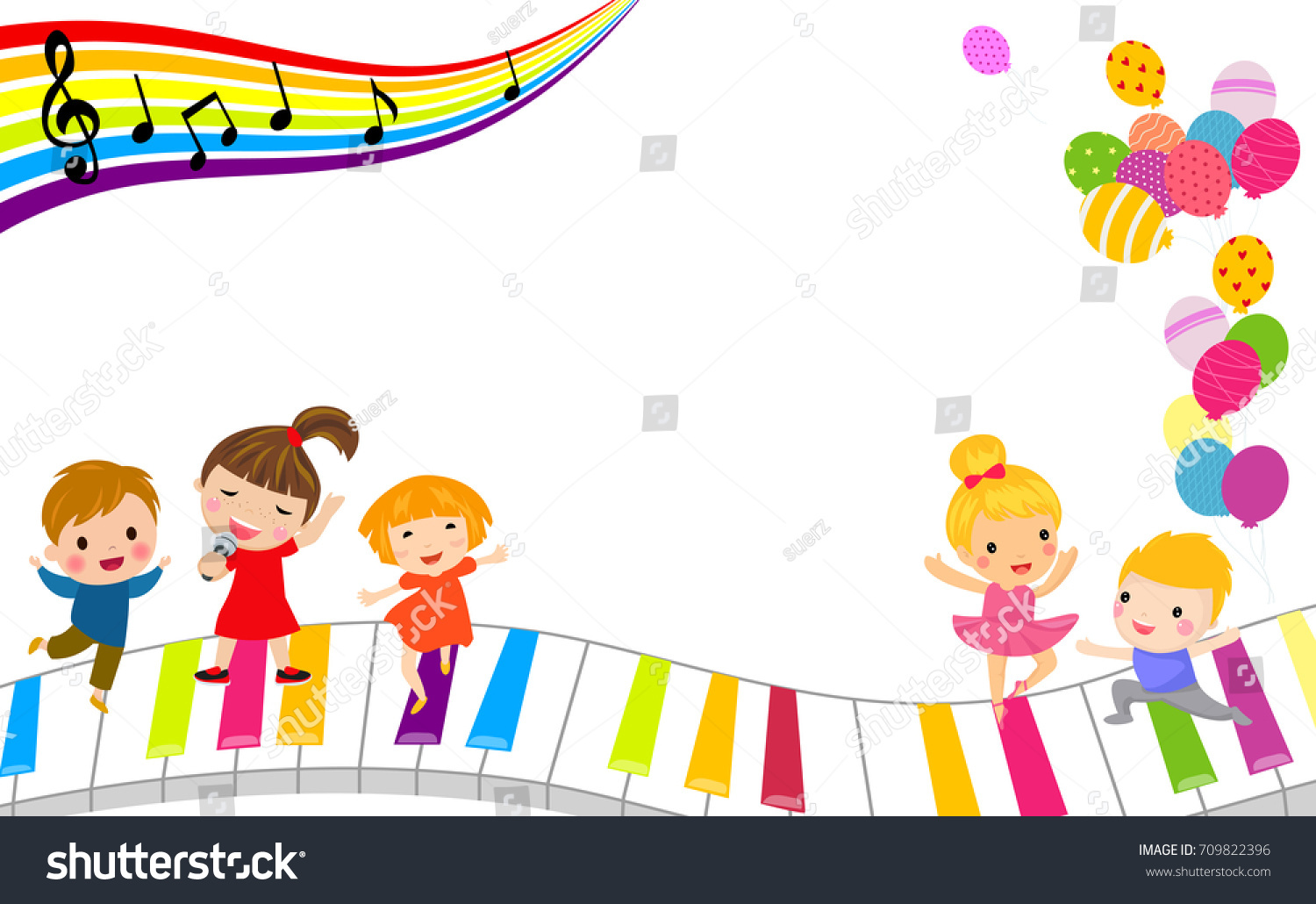 children and music frame - Music Picture Frame